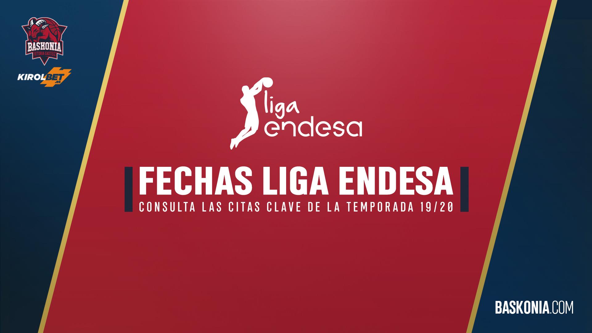 Acb Calendario 2020.Definidas Las Fechas De La Liga Endesa Para La Temporada